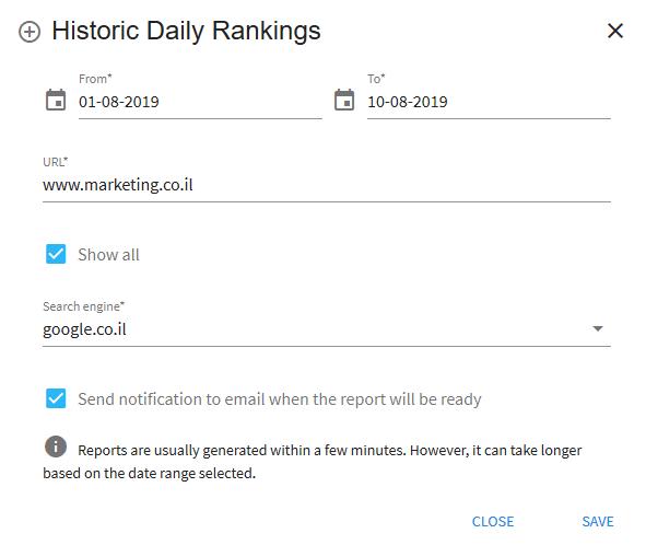 Historic Daily Ranking