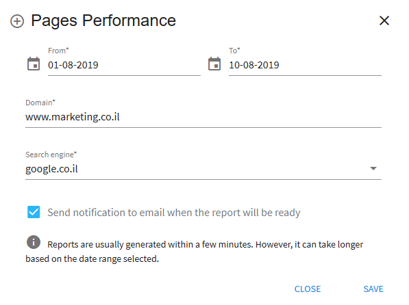 Pages Performance